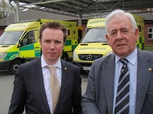 Mabon ap Gwynfor with Dafydd Wigley