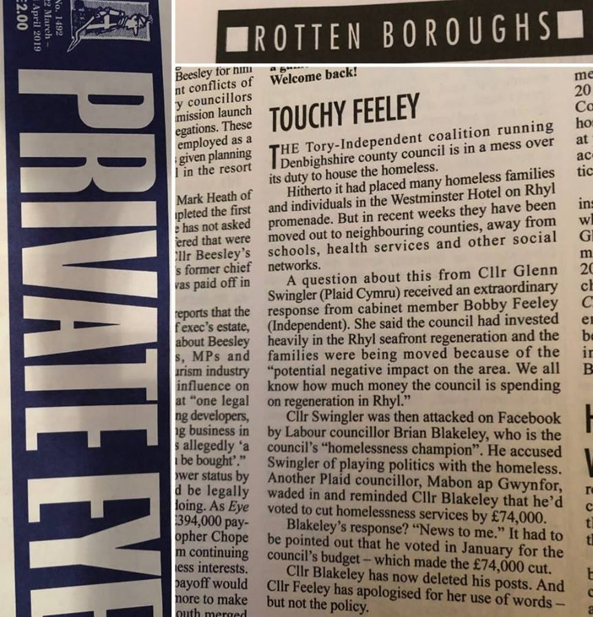 Yn y Private Eye